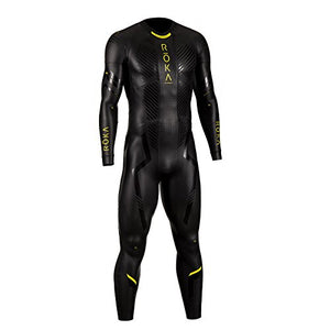 ROKA Maverick Pro II Men's Wetsuit for Swimming and Triathlons - Black/Acid Lime - Large/Tall (L/T)
