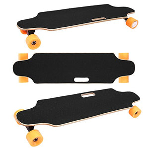 Aceshin Electric Skateboard Motorized Skateboard 20 KM/H Top Speed, 250W Motor,7 Layers Maple Longboard with Wireless Remote Control Gift for Adult Kids Teens (Orange)