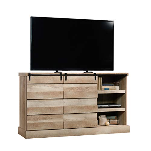 "Sauder Cannery Bridge Credenza, For TV's up to 60"", Lintel Oak finish"