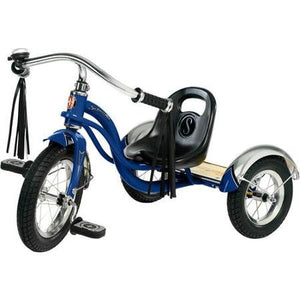 "12"" Schwinn Roadster Trike, Retro-Styled Classic Tricycle Frame with Low Center of Gravity, Color Blue"