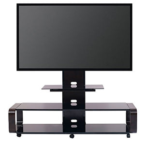 "TransDeco TV Stand for 35-85"" TV, Espresso/Black"