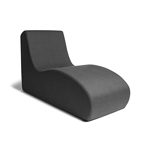 Jaxx Shea Lounger - Plush Foam Lounge Chair for Living Rooms, Dorms, or Offices - Black