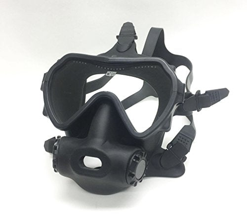 OTS Spectrum Full Face Mask, Black Clear Lens
