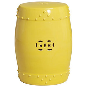 Emissary Home & Garden Large Drum Stool/Table Yellow