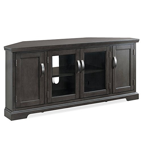 Leick Furniture Corner TV Console, Gray Washed Oak