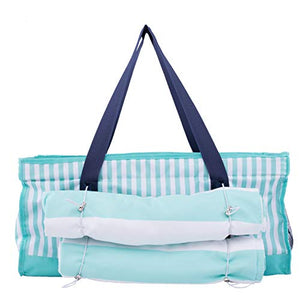 Beach Bag Tote Set with Removable Insulated Cooler and Two Microfiber Beach Towels - Plenty of Room to Comfortably Carry All Your Essentials -Perfect For Outdoor Events, Pool, Picnics, Camping & More