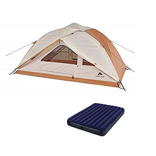 OZARK Trail Family Cabin Tent (Beige/Orange, 2 Person with Airbed)