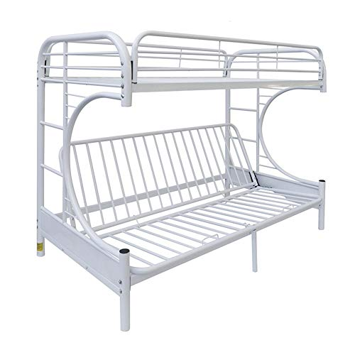 ACME 02091W-BK Eclipse Twin Over Full Futon Bunk Bed, White
