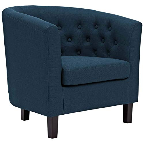 Modway Prospect Upholstered Fabric Contemporary Modern Loveseat and Armchair in Azure