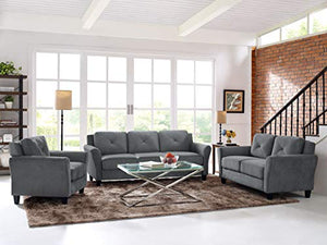 Lifestyle Solutions Harrington Sofa in Grey, Dark Grey