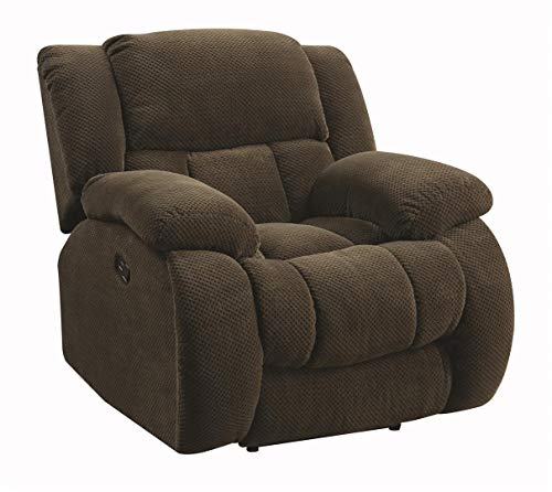 Coaster Home Furnishings Weissman Upholstered Glider Recliner Charcoal