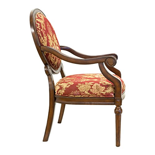 "Best Master Furniture Maddison Traditional Living Room Accent Chair & Table Set, 24"" x 25"" x 38"""