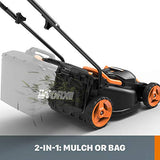 "WORX WG779 40V Power Share 4.0 Ah 14"" Lawn Mower w/ Mulching & Intellicut (2x20V Batteries)"