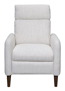 MorriSofa Mila Press Back Recliner, Sand Color