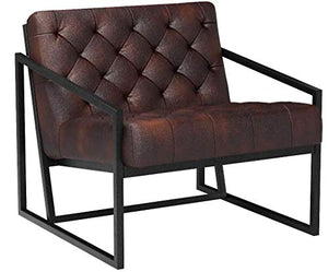 Flash Furniture HERCULES Madison Series Bomber Jacket LeatherSoft Tufted Lounge Chair