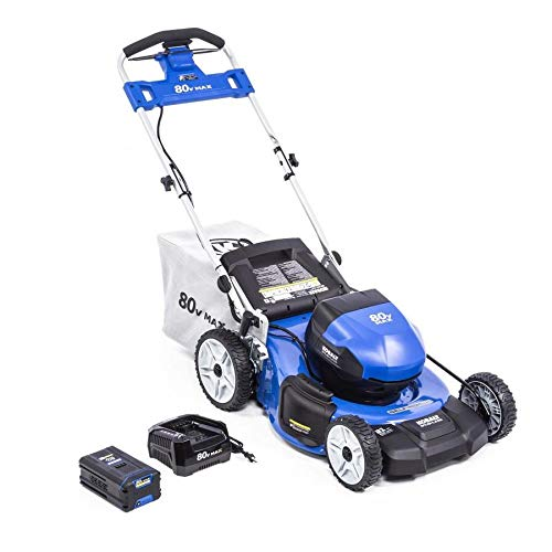 KT Kobalt 80-Volt Max Brushless Lithium Ion 21-in Self-propelled Cordless Electric Lawn Mower (Battery Included)