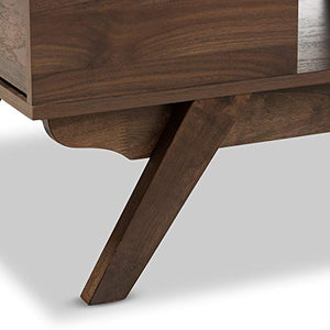 Baxton Studio 2-Drawer Coffee Table in Brown Finish