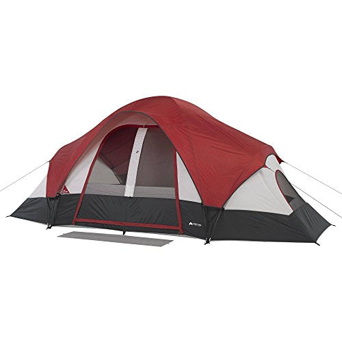 OZARK Trail Family Cabin Tent (Maroon/Grey, 8 Person)