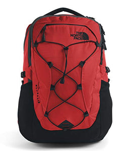 The North Face Women's Borealis Backpack, Fiery Red Ripstop/TNF Black, One Size