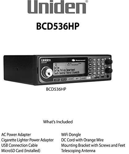 Uniden BCD536HP HomePatrol Series Digital Phase 2 Base/Mobile Scanner with HPDB and Wi-Fi & (BC20) Bearcat 20-Watt External Communications Speaker