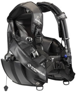 "Sherwood ""Zodiac BC/BCD Scuba Diving Buoyancy Compensator w/Speed Dry Material Integrated Weight System, LG"