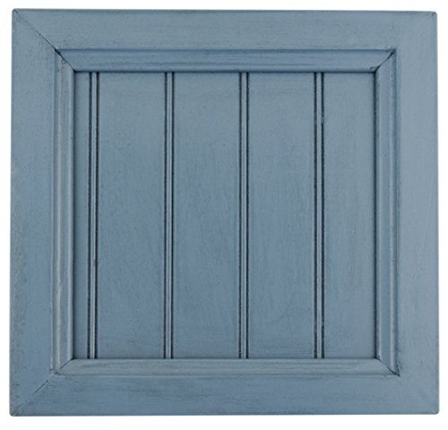 "Eagle Tall Coastal Corner TV Console, 41"" Wide, Smokey Blue Finish"