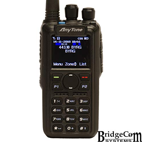 AnyTone AT-D878UV W/GPS + Free Course, Programming Cable, Support, and 2 Stickers. 3100mAh Battery, Latest Firmware, Dual Band DMR/Analog.