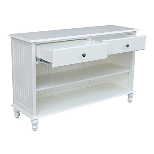 International Concepts Cottage Console Table, Beach White
