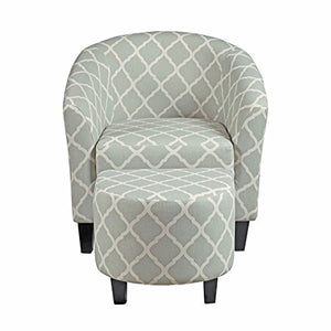 "Pulaski Upholstered Barrel Accent Chairs, 29.13"" L x 27.95"" W x 30.31"" H, Grey"