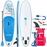 "redder Stand Up Paddle Board Inflatable SUP Board Vortex All Round Adult and Kids Paddle Board with Leash, Paddle, Backpack, Pump, Repair Kit, Non-Slip Deck | 10' Long 31"" Wide 4.75"" Thick"