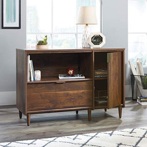 "Sauder Clifford Place Credenza, For TV's up to 46"", Grand Walnut finish"