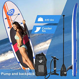 "Goplus 10' Inflatable  Stand Up Paddle Board Package w/ Fin Adjustable Paddle Pump Kit Carry Backpack, 6"" Thick"
