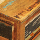 Festnight Vintage Storage Cabinet Box Reclaimed Wood Coffee Table Tea End Table Pure Handmade for Home Office Living Room Furniture