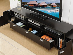 "ioHOMES Coley Modern 3-Drawer TV Stand with 3-Shelf For Holding Electronics, 84"", Cappuccino"