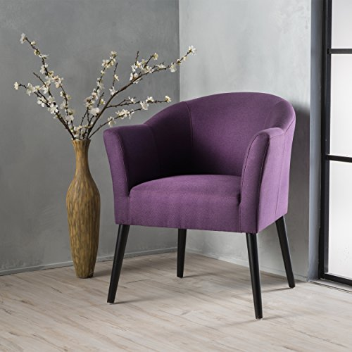 Christopher Knight Home Cosette Fabric Arm Chair, Plum