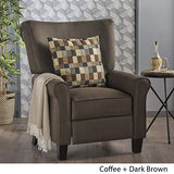 Christopher Knight Home Thalia Traditional Fabric Recliner, Coffee / Dark Brown