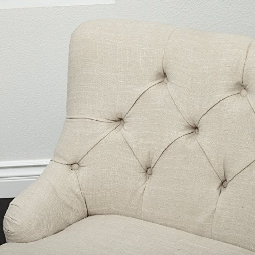 Christopher Knight Home Nicole Fabric Settee, Light Beige