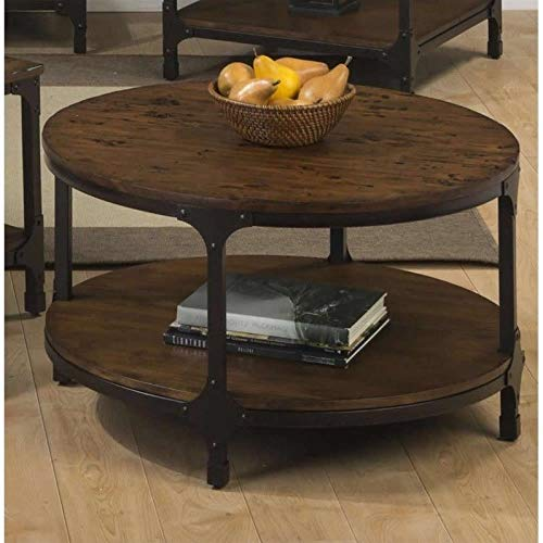 Jofran Urban Nature Wood Round Coffee Table in Pine
