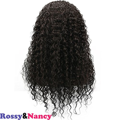 Rossy&Nancy 300% High Density 10A Lace Front Human Hair Wigs for Black Women Wet Curly Brazilian Virgin Hair Glueless Lace Wig with Baby Hair Pre Plucked Natural Hairline