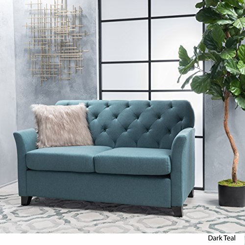 Christopher Knight Home Jessup Fabric Loveseat, Dark Teal