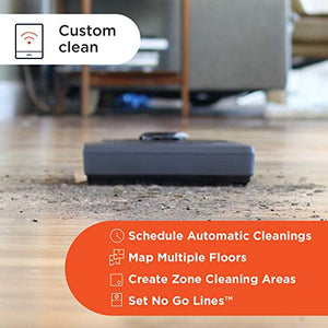 Neato Robotics D6 Connected Laser Guided Robot Vacuum for Pet Hair, Works with Amazon Alexa, Black