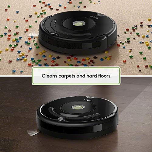iRobot Roomba 614 Robot Vacuum with Roomba 600 Series Replenishment Kit (1 Bristle Brush, 1 Beater Brush, 1 Spinning Side Brush, 3 AeroVac Filters, and 1 Round Cleaning Tool)