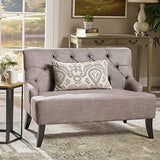 Christopher Knight Home Nicole Fabric Settee, Grey