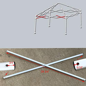 "Ozark Trail Coleman First Up 10 X 10 Canopy Gazebo Side Truss Bar 39 3/4"" Replacement Parts White"
