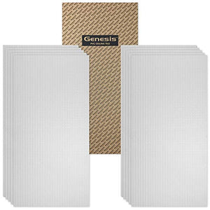 Genesis 2ft x 4ft Classic Pro Ceiling Tiles - Easy Drop-in Installation �Waterproof, Washable and Fire-Rated - High-Grade PVC to Prevent Breakage - Package of 10 Tiles