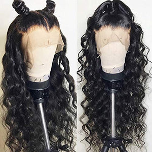 Rossy&Nancy 13X6 Lace Front Wigs Loose wave Glueless Human Hair Wig Pre Plucked Natural Hairline Wigs with Baby Hair for Black Women 130% Density