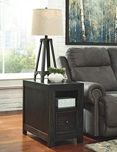 Signature Design by Ashley Gavelston Chair Side End Table Rubbed Black