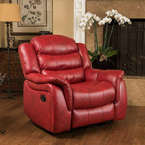 Christopher Knight Home Hawthorne Glider Recliner, Oxblood Red