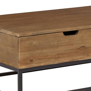 "Amazon Brand – Rivet Modern Reclaimed Fir Wood Storage Coffee Table, 43""W, Natural and Black"