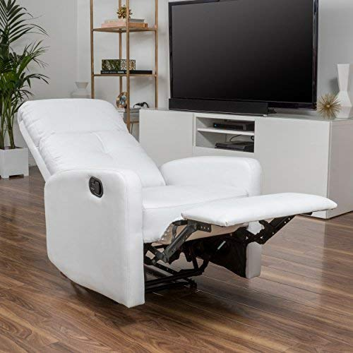 Christopher Knight Home Samedi PU Recliner, White